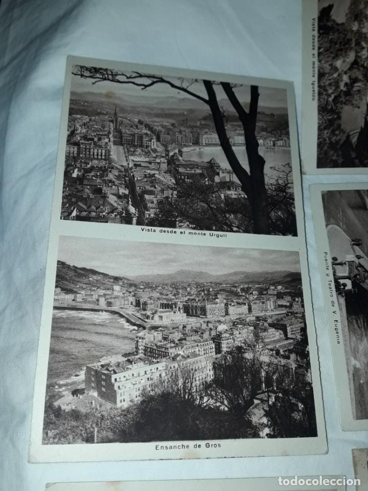 Postales: Lote 6 postales antiguas San Sebastián - Foto 12 - 238675545