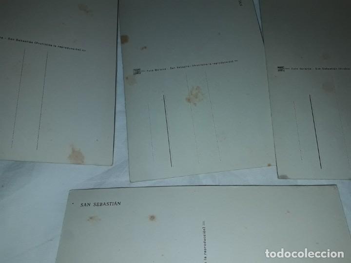 Postales: Lote 6 postales antiguas San Sebastián - Foto 15 - 238675545