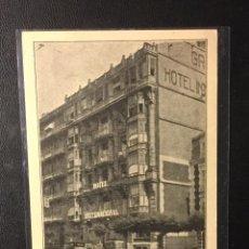 Postales: SAN SEBASTIÁN , HOTEL INTERNACIONAL , PUBLICITARIA . EDITOR BAROJA. Lote 242372235
