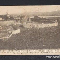 Postales: POSTAL FUENTERRABIA GUIPUZCOA PLAZA DE TOROS Y EL BIDASOA - M. D. CA 1910-20. Lote 243215380