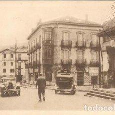 Postales: POSTAL BEHOBIE ENTRADA A ESPAÑA COCHE ANTIGUO LINEA SAN SEBASTIAN N° 1 ED. VALVERDE N° 38. Lote 243608270