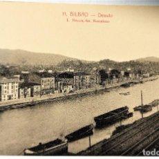 Postales: TARJETA POSTAL ANTIGUA - BILBAO - FOTOGRAFO L..ROISIN - DEUSTO - PERFECTA. Lote 243672710