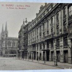 Postales: TARJETA POSTAL ANTIGUA - BILBAO - FOTOGRAFO L..ROISIN - COLISEO ALBIA - PERFECTA. Lote 243673860
