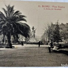 Postales: TARJETA POSTAL ANTIGUA - BILBAO - FOTOGRAFO L..ROISIN - PLAZA ELIPTICA - PERFECTA. Lote 243674315
