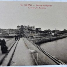 Cartoline: TARJETA POSTAL ANTIGUA - BILBAO - FOTOGRAFO L..ROISIN - MUELLE DE ALGORTA - PERFECTA. Lote 243675525