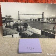 Postales: POSTAL ANTIGUA. BLANCO Y NEGRO - PAIS VASCO - REF, 1157 PUENTE DE VIZCAYA ,BILBAO. Lote 243795555