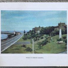 Postales: TARJETA DE FELICITACIÓN DEL BANCO DE VIZCAYA 1954 - 1955 - MUELLE DE ARRILUCE (ALGORTA). Lote 243900490