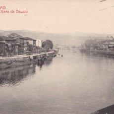 Postales: BILBAO, RIBERA DE DEUSTO. ED. G.L. FOTOTIPIA CASTEÑEIRA Y ALVAREZ Nº 51. CIRCULADA EN 1924. Lote 243912650