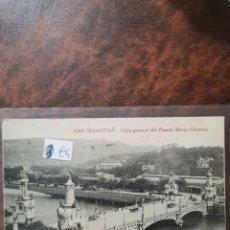 Postales: POSTAL DE SAN SEBASTIÁN, VISTA GENERAL DEL PUENTE DE MARIA CRISTINA. Lote 243928715