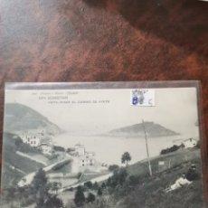 Postales: POSTAL DE SAN SEBASTIÁN, VISTA DESDE EL CAMINO DE AYETE. Lote 243929570