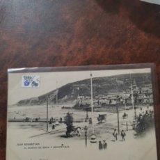 Postales: POSTAL DE SAN SEBASTIÁN, EL BARRIO DE GROS Y MONTE ULIA. Lote 243929615