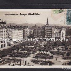 Postales: POSTAL DE ESPAÑA - SAN SEBASTIÁN. PARQUE ALDERDI EDER. Lote 244008620