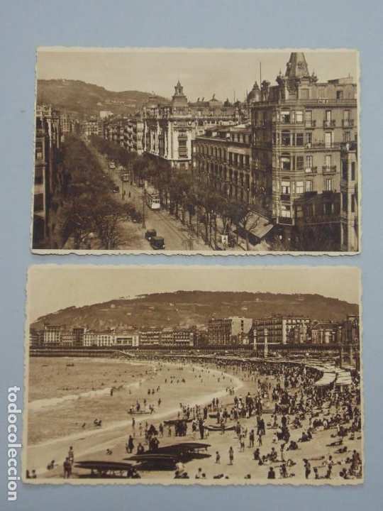 LOTE 2 POSTALES - SAN SEBASTIAN - FOTO GALARZA - VER FOTOS ...L3401 (Postales - España - Pais Vasco Antigua (hasta 1939))