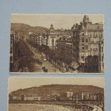 Postales: LOTE 2 POSTALES - SAN SEBASTIAN - FOTO GALARZA - VER FOTOS ...L3401. Lote 244528390