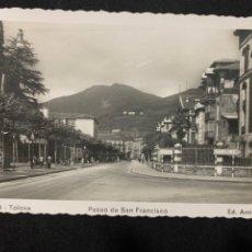 Postales: TOLOSA - PASEO DE SAN FRANCISCO - Nº 25 ED. ARRIBAS. Lote 244916830