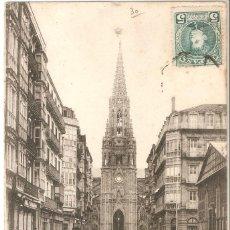 Postales: SAN SEBASTIAN - C. LOYOLA - IGLESIA DEL B. PASTOR C.EN 1907. Lote 245218465