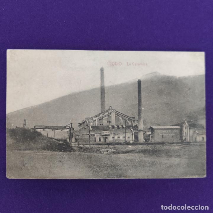 POSTAL DE LLODIO (ALAVA). LA CERAMICA. FOTOGRAFIA ENRIQUE. PUBLICITARIA. ORIGINAL. (Postales - España - Pais Vasco Antigua (hasta 1939))