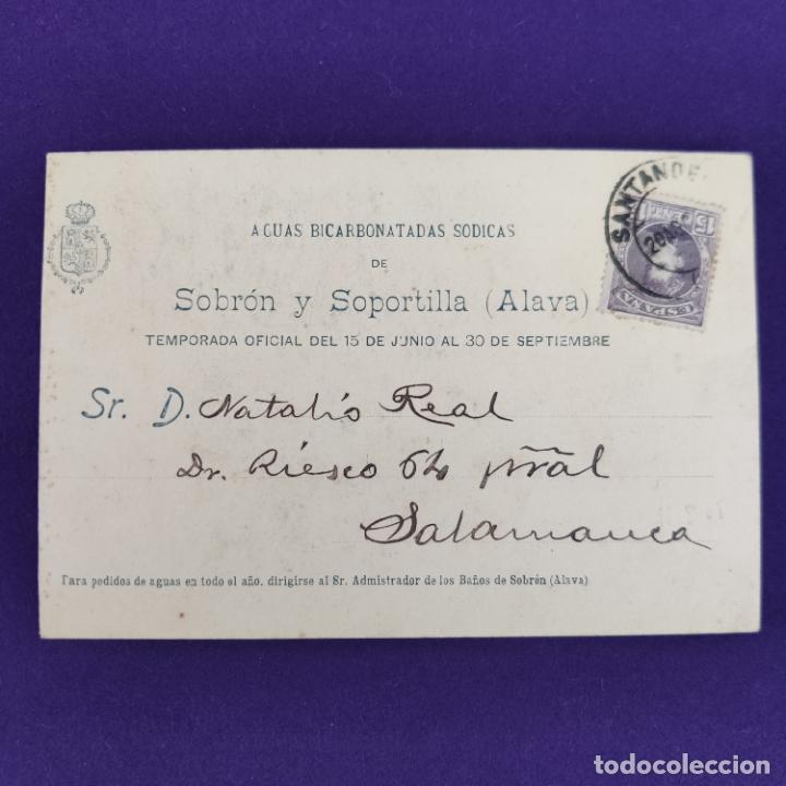 Postales: POSTAL DE SOBRON (ALAVA). BAÑOS DE SOBRON. LA PEÑA DERRUMBADA. HAUSER Y MENET. ORIGINAL. - Foto 2 - 245414620