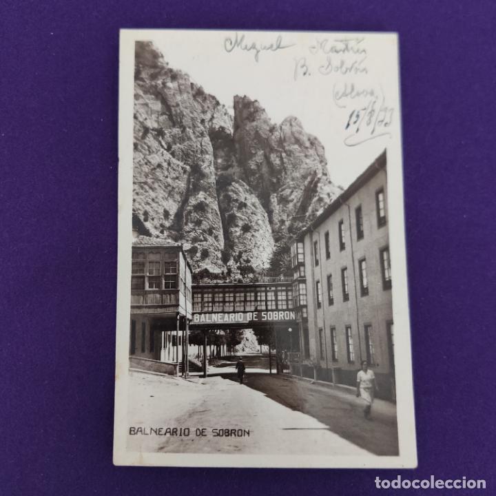 POSTAL DE SOBRON (ALAVA). BALNEARIO DE SOBRON. GALERIA DE COMUNICACION. ORIGINAL. (Postales - España - Pais Vasco Antigua (hasta 1939))
