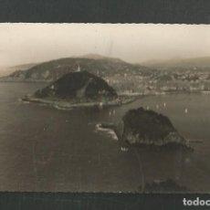 Postales: POSTAL CIRCULADA SANEBASTIAN 39 ISLA DE SANTA CLARA Y MONTE URGULL EDITA EDICIONES LUJO. Lote 246201105