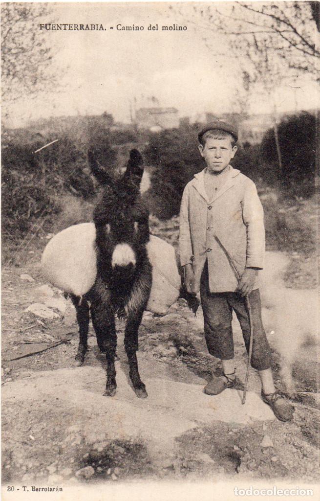 POSTAL DE FUENTERRABIA - ONDARRIBIA GUIPÚZCOA CAMINO DEL MOLINO. NUEVA EDIT. T BERROTARÁN (Postales - España - Pais Vasco Antigua (hasta 1939))