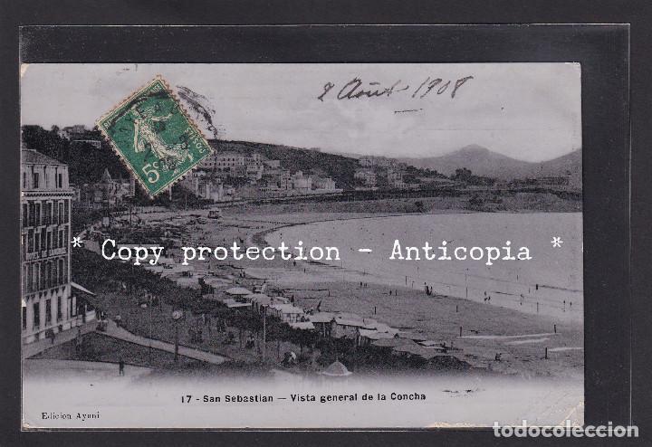 POSTAL DE ESPAÑA - 17 - SAN SEBASTIÁN - VISTA GENERAL DE LA CONCHA (Postales - España - Pais Vasco Antigua (hasta 1939))