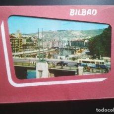Postales: EUSKADI, (NUEVE) 9 POSTALES BILBAO, AÑO 1959. ACORDEÓN - BLOC. EDICIONES AGATA.. Lote 247726140