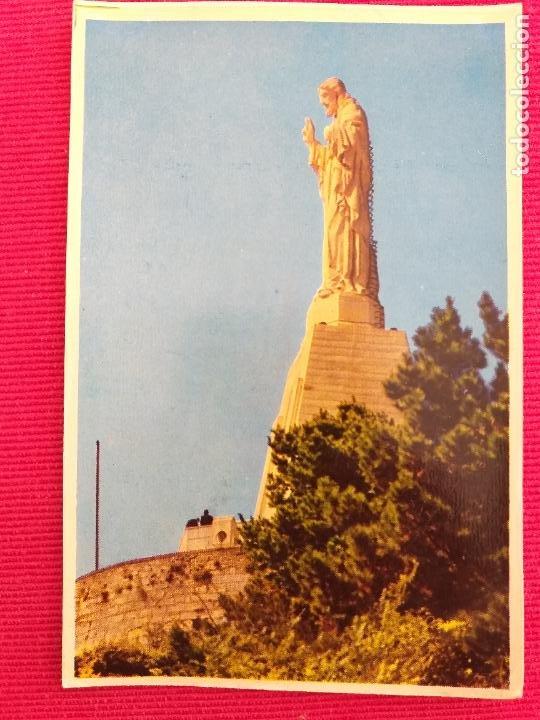 POSTAL DE SAN SEBASTIAN. # 1 MONTE URGULL. MONUMENTO AL SAGRADO CORAZÓN. (Postales - España - País Vasco Moderna (desde 1940))