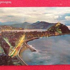Postales: POSTAL DE SAN SEBASTIÁN. # 74. VISTA NOCTURNA DESDE EL MONTE ULÍA. MANIPEL.. Lote 248740945
