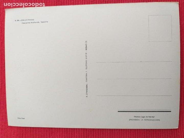 Postales: POSTAL DE ZALLA. # 84. CASA JUNTAS AVELLANEDA, SOPUERTA, VIZCAYA. - Foto 2 - 248742170