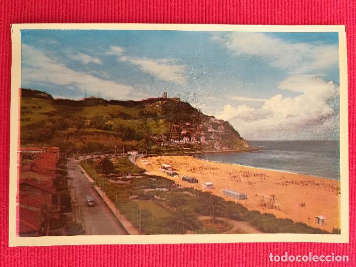 POSTAL DE SAN SEBASTIAN. 16. PLAYA DE ONDARRETA Y MONTE IGUELDO (Postales - España - País Vasco Moderna (desde 1940))