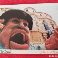 Postales: POSTAL FIESTAS DE BILBAO. GORA ASTE NAGUSIA. LA GARGANTUA. KONPARSA MOSKOTARRAK. LA CAIXA Y DEIA. Lote 251111240