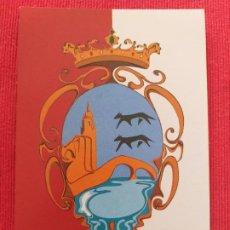 Postales: POSTAL DEL ESCUDO REPRESENTATIVO DE LA VILLA DE BILBAO. AÑO 1990. Lote 251111465
