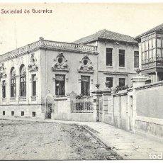 Postales: GUERNICA - SOCIEDAD DE GUERNICA - GOITIA Y COMPAÑÍA, IMPRENTA Y LIBRERÍA - MUY BUEN ESTADO. Lote 251410245