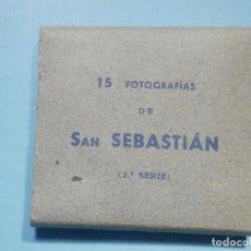 Postales: 15 FOTOGRAFIAS DE SAN SEBASTIAN - 2ª SERIE - 6,5 X 5,70 - NUEVAS - SIN EDITOR. Lote 251574275