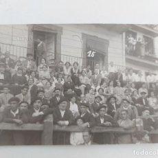 Postales: FOTOGRAFIA POSTAL DE DEVA - GUIPUZCOA - FIESTAS DE SAN ROQUE AÑO 1925 - FOTOGRAFO ORTUOSTE Y CASTILL. Lote 252763615