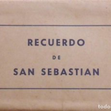 Postales: RECUERDO DE SAN SEBASTIÁN. 20 VISTAS. FOTO GALARZA. 10X15 CM. BUEN ESTADO CON SIGNOS EDAD. AÑOS 50.. Lote 252816125
