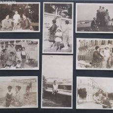 Postales: 8 FOTO POSTALES - SAN JUAN DE LUZ - SEPTIEMBRE 1928 - PAÍS VASCO FRANCÉS (6,5X11CM). Lote 253897395