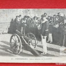 Postales: FUENTERRABIA - HONDARRIBIA GUIPÚZCOA POSTAL ANTIGUA ORIGINAL CAÑÓN M.D.. Lote 253986645