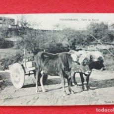 Postales: FUENTERRABIA - HONDARRIBIA GUIPÚZCOA POSTAL ANTIGUA ORIGINAL - CARRO DE BUEYES - T BERROTARAN. Lote 253988815
