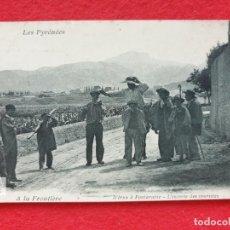 Postales: FUENTERRABIA - HONDARRIBIA GUIPÚZCOA POSTAL ANTIGUA ORIGINAL - CARRETERA IRUN. Lote 253989620