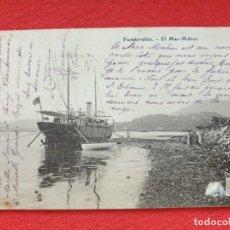 Postales: FUENTERRABIA - HONDARRIBIA GUIPÚZCOA POSTAL ANTIGUA ORIGINAL - BARCO MAC - MAHON. Lote 253989880