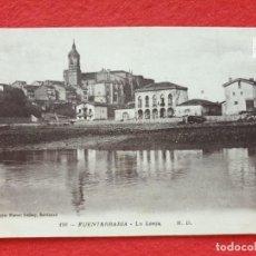 Postales: FUENTERRABIA - HONDARRIBIA GUIPÚZCOA POSTAL ANTIGUA ORIGINAL -LA LONJA M.D.. Lote 253990190