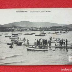 Postales: FUENTERRABIA - HONDARRIBIA GUIPÚZCOA POSTAL ANTIGUA ORIGINAL -DESEMBOCADURA RIO BIDASOA. Lote 253990670