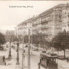 Postales: BILBAO. GRAN VIA (FINAL) L.G. BILBAO SIN CIRCULAR. Lote 254628230