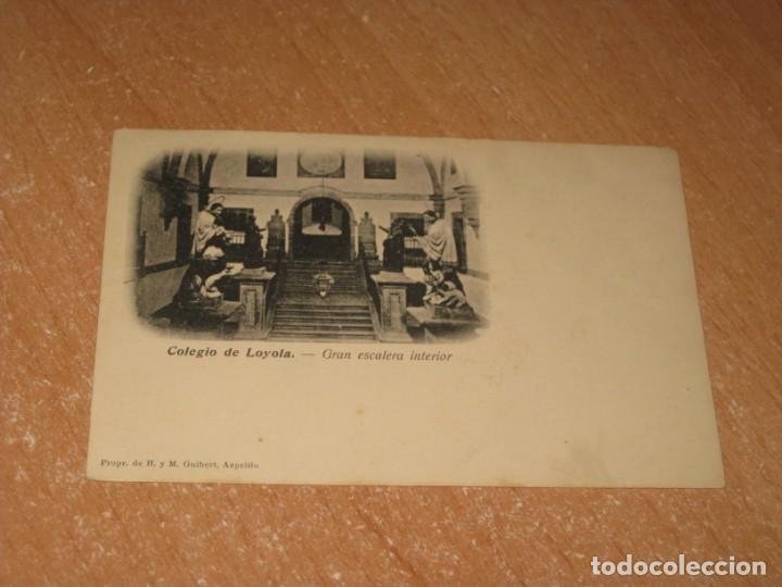 POSTAL DE COLEGIO DE LOYOLA (Postales - España - Pais Vasco Antigua (hasta 1939))