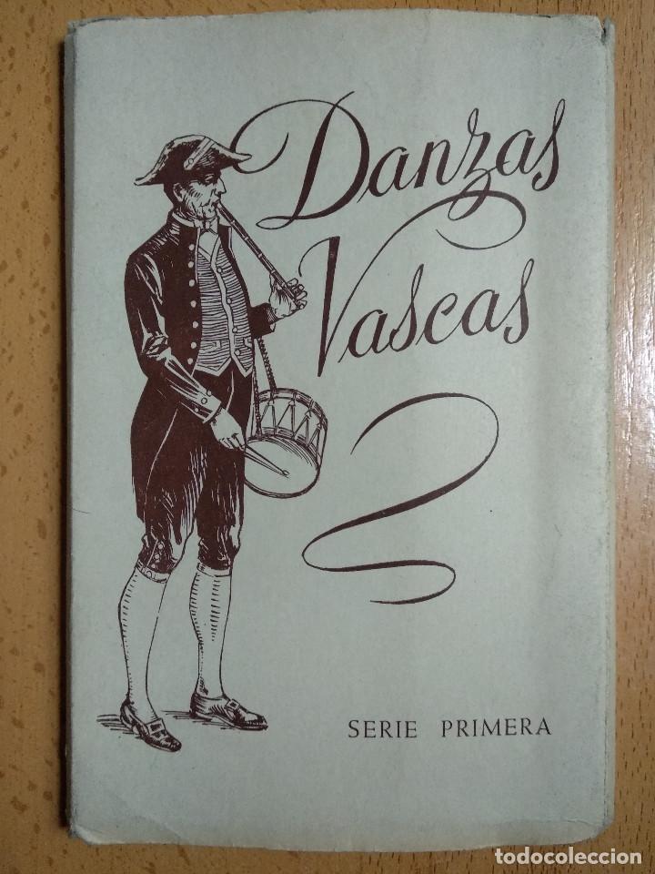 10 POSTALES DANZAS VASCAS FOURNIER VITORIA SERIE I. ACORDEON DANTZARIS (Postales - España - Pais Vasco Antigua (hasta 1939))