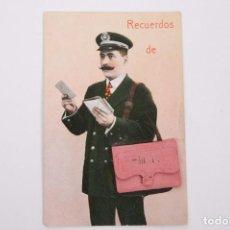 Postales: ANTIGUA POSTAL RECUERDOS DE BILBAO - SIN CIRCULAR - CARTERO 10 VISTAS DESPLEGABLES. Lote 255993030