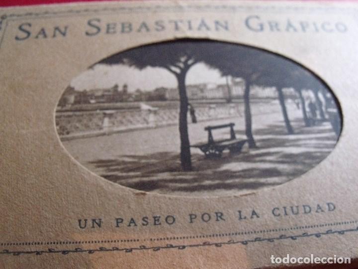 SAN SEBASTIAN GRAFICO FOTOS MARIN ED. HSM CARPETILLA CON 16 POSTALES NUEVAS (Postales - España - Pais Vasco Antigua (hasta 1939))