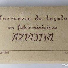Postales: AZPEITIA SANTUARIO DE LOYOLA EN FOTOS MINIATURA 15 POSTALES 8 X 5 CM.. Lote 257395295